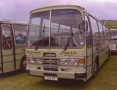 Creams coach Ford now in preservation (Martin Pritchard) Tags: red john williams garage llandudno coaches creams porthmadog