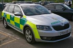 2014 koda Octavia SE 2.0 TDI (davocano) Tags: ambulance skoda brooklands secas koda southeastcoastambulanceservice rapidresponsevehicle emergencyservicesday gy64uxd