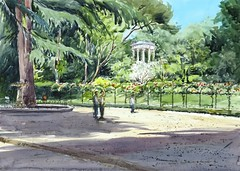 El Capricho 2015 (P.Barahona) Tags: pluma acuarela jardines urbansketchers