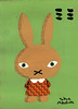 ミミ (nakagawatakao) Tags: illustration painting character charactor イラスト ウサギ うさぎ キャラクター 耳 takaonakagawa 絵しりとり 中川貴雄
