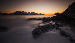 haukland - sunset (christian.denger) Tags: sunset seascape beach norway landscape long exposure dusk lee lofoten haida eos6d haukland canon1635f4
