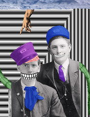 Leo, pipo and the electric pythons (Joelstuff V4) Tags: portrait vintage zombie surreal montypython ritratto leoandpipo