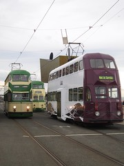 Blackpool Tramway: Balloons 717, 715 and 719 at North Pier (24/09/2016) (David Hennessey) Tags: blackpool tramway balloon car 717 715 719 north pier