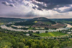 the beauty of Germany (lindner.photography) Tags: river landscape trees clouds hills sun