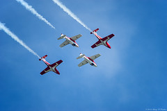 Two By Two (Fly Sandman) Tags: eaa airventure oshkosh airshow airplane aircraft canadianforces snowbirds jet tudor smokeon formationflight inverted trainer