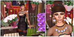 SWANK Sept. 04: Im Still Painting Flowers For You (Hanna Luna Naimarc: MVD 2016 & MVW Chile 20) Tags: tiffanydesigns dulcesecrets eyes colors dress event black fashion style swank new september hannahluna moderncouture