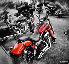Aug 6 2016 - Orange treat in downtown Sturgis (lazy_photog) Tags: lazy photog elliott photography sturgis south dakota motorcycle rally black hills classic races main street selective color harley davidson 080616sturgisday1