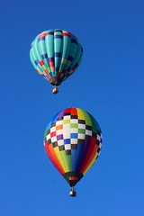 rising colors (Karol Franks) Tags: albuquerque balloon fiesta newmexico 2016 sky ascension rising colorful shape hotair clear blue adventure escape above canon usa