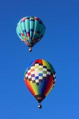 rising colors (Karol Franks) Tags: albuquerque balloon fiesta newmexico 2016 sky ascension rising colorful shape hotair clear blue adventure escape above canon usa