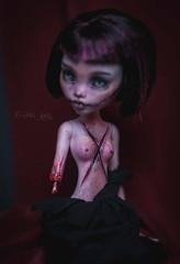 (firexia) Tags: monsterhigh mattel mh makeup monster matteldolls modification ooak repaint dolls doll dark draculaura vampire zombie
