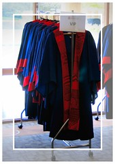 Collective noun - A ceremony of gowns? (krillmerma) Tags: gown graduation blue red doctor cermony collective