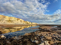 Same direction (pauldunn52) Tags: southerndown temple bay glamorgan heritage coast wales reflections cliffs beach shore platform seaweed