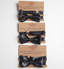 Recycled Brompton inner tube bow tie by Recycle & Bicycle (ReCycle And BiCycle) Tags: brompton bromptonbike foldingbike recycled innertube