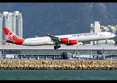 Airbus | A340-642 | Virgin Atlantic Airways | G-VRED | Hong Kong | HKG | VHHH (Christian Junker | Photography) Tags: nikon nikkor d800 d800e dslr 70200mm teleconverter aero plane aircraft airbus a340642 a340600 a340 a346 virginatlanticairways virginatlantic virgin vs vir vs200 vir200 virgin200 gvred scarletlady heavy widebody arrival landing 25r airline airport aviation planespotting 768 hongkonginternationalairport cheklapkok vhhh hkg hkia clk hongkong sar china asia lantau spottingbyboat christianjunker flickraward flickrtravelaward zensational hongkongphotos worldtrekker superflickers