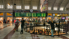 Stockholm, Sweden: Stockholm Central Station great hall (nabobswims) Tags: centralstation hdr highdynamicrange lightroom nabob nabobswims photomatix se sonya6000 stockholm sweden trainstation stockholmslän