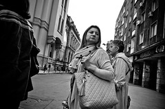 _DSC2634 (stimpsonjake) Tags: nikoncoolpixa 185mm streetphotography bucharest romania city candid blackandwhite bw monochrome face serious woman