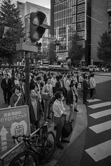 Just arrived... (Kantashoothailand) Tags: sony a7ii fe2470mmf28gm japan people bw blackandwhite monochrome streetphotography waiting tokyo