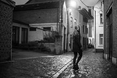 Alina (foufinhaphoto) Tags: girl woman bnw blackandwhite foufinha street night dark lonely belgiumgathering15 hastieredontcare