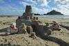 5Fri DT&Dee Sand Castle4 (g crawford) Tags: penzance cornwall marazion stmichaelsmount crawford sandbeach sandcastle dangerted ted teddy teddies dt dee bucket spade