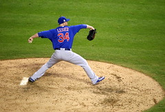 Cubs lefty Jon Lester pitches in relief during World Series Game 7. (apardavila) Tags: postseason wordseries baseball chicagocubs jonlester majorleaguebaseball mlb progressivefield sports worldseries