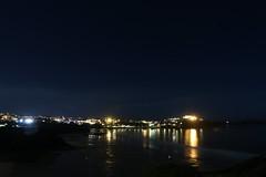 Street lights and stars (pshep1) Tags: newquay reflection stars light corn tolcarne sea beach night