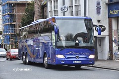 Shearings Wigan 839, BJ16KXM. (EYBusman) Tags: shearings holidays wigan independent bus coach exeter city centre devon mercedes benz daimler tourismo bj16kxm eybusman