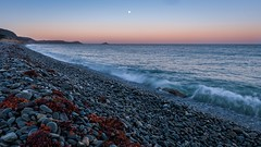 Plage St Pabu (jahbalaha) Tags: ifttt 500px bretagne brittany landscape seascape colorful blue plneufvalandr erquy coast plage saint pabu stones sea moon wave high tide water orange