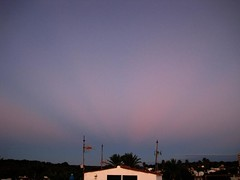 Sunrise, Anti Crepuscular Rays (timm999flickr) Tags: menorca balearics army barracks abandoned sea thunderstorms iridiumflare anticrepuscularrays sunrise sunset montetorre alcaufar graffiti portraits birthday bassaverde stlluis calaenporter salgar mammatus startrails