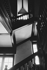 R1-076-36A (David Swift Photography Thanks for 19 million view) Tags: davidswiftphotography pennsylvania pennsburymanor williampenn staircase stairs steps ballustrade bannister 35mm film ilfordxp2 nikonfm2
