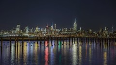 Big City (karinavera) Tags: travel sonya7r2 manhattan uptown longexposure view water night cityscape city