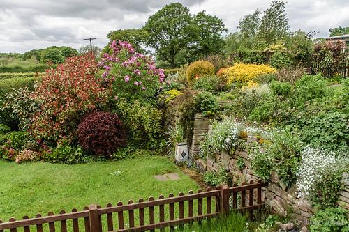 Lock cottage garden at  Bosley Top Lock