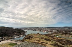 St-John's harbour from the top of Cabot Tower (le Brooklands) Tags: cabottower d7000 hdrphotographic newfoundlandlabrador sigma1224mm stjohns stjohnsharbour