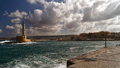 Chania_08_25102016-1130 (john houv) Tags: chania crete mediterranean oldharbour oldharbor lighthouse reflection