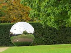 Mirror Ball (S John Davey) Tags: yorkshiresculpturepark brettonhall yorkshire mirror ball mirrorball sculpture