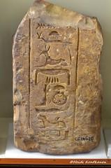 Fragment with Seth (konde) Tags: seth god ancientegypt naqada tuthmoseiii 18thdynasty newkingdom limestone temple hieroglyphs
