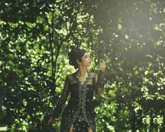 I greet you (Dudy | 2112 photography) Tags: nikon nikkor nature concept vintage cinematic model mood makeup mode people portrait potrait photography photo closeup fashion face forest fairy flowers female asia asian wardrobe retro dress dreamscape girl girls dark beauty beautiful