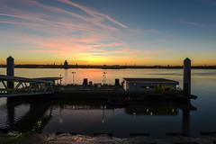 Mersey sunset (paul hitchmough photography) Tags: uk pierhead nikond800 sky beautifulsky colours liverpool rivermersey paulhitchmoughphotography sunset
