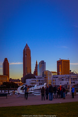 Downtown Cleveland (jomak14) Tags: canoneos1ds cleveland daytimelongexposure fullframe kenkond8filter lakeerie lakefront ohio tokinaaf1935mmf3545 people skyline architecture