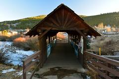 Bridge, Nederland, Colorado (Janine Curry) Tags: nikon d200 red professional utd car trip mountains rocky sunset light color colorado