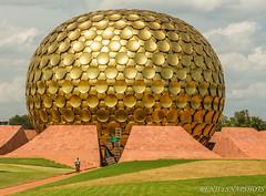 Matrimandir, Auroville, Pondicherry (Renji's SnapShots) Tags: matrimandir auroville pondicherry puducherry travel outdoor architecture dome sunnyday sky india grass field geodesicdome structure