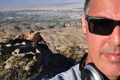 Murray Peak Selfie (Blue Rave) Tags: murrayhill claraburgesstrail sunglasses self myself ego me bloke dude guy male mate people selfie half halfface halffaceportraits hills mountains nature palmsprings hike hiking 2016 california ca