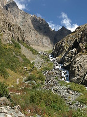 P8317804 (bartlebooth) Tags: mountains alakul lake kyrgyzstan issykkul centralasia asia alpine glacial glaciallake alpinelake ussr hike trek tourists trekkers
