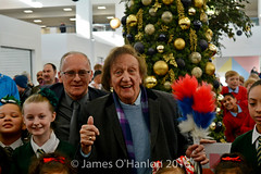 Ken Dodd and Malcolm Kennedy after cutting (James O'Hanlon) Tags: ken dodd kendodd st johns market liverpool opening officially characters singing choir tickling stick malcolmkennedy stjohnsmarket event