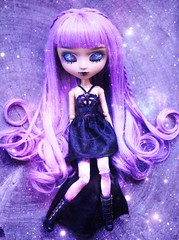 Extraterrestrial (Bianca Hopkins) Tags: doll molly custom mocha mio akari face up galaxy alien purple hair