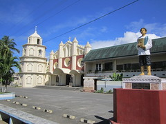 STATUE AND CHURCH (PINOY PHOTOGRAPHER) Tags: polangui albay bicol luzon philippines asia world amazing fabulous photography picture canon color attraction tourism