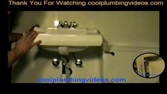 Wall hung Bath sink replacement tutorial_Moment(4) (plumberx1@gmail.com) Tags: plumbing plumber howtoplumbing toilet shower wast water hotandcoldwater bath tub waterheater drip leak pex pexpiping