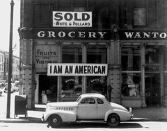 #A Japanese American unfurled this banner over his business the day after the Pearl Harbor attack, 1942. Photographed just prior to the owners internment by Dorothea Lange. [640x503] #history #retro #vintage #dh #HistoryPorn http://ift.tt/2fAa9iN (Histolines) Tags: histolines history timeline retro vinatage a japanese american unfurled this banner over his business day after pearl harbor attack 1942 photographed just prior owners internment by dorothea lange 640x503 vintage dh historyporn httpifttt2faa9in