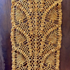 Sunshine Pineapples Scarf (SunnyInDenmark) Tags: pineapple crochet scarf lace suviscrochet
