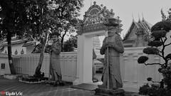 Wat Pho Temple in B&W - Bangkok (Ld\/) Tags: wat pho bangkok blackandwhite black white bw noiretblanc noir temple thailande