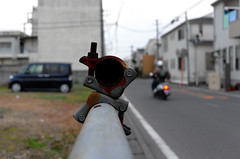 Day 339/366 : Rusty (hidesax) Tags: 339366 rusty street bike car steel pipes joint cloudy neighborhood ageo saitama japan hidesax leica x vario 366project2016 366project 365project